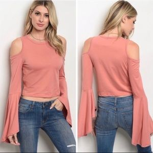 💕Bell Sleeve Crop Top💕 New, Boutique Item